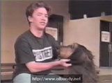 David Faustino and Buck at Prime Time Pets